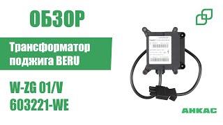 Трансформатор поджига BERU W-ZG 01/V арт. 603221-WE
