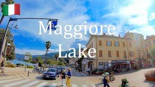 🇮🇹 Maggiore Lake coast 4K. Baveno, Stresa, Arona. Lago Maggiore.