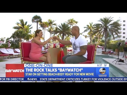 The Rock Chats 'Baywatch'