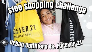 $100 At Urban Outfitters Vs. $100 At Forever 21 | Come Shopping With Me | Vlog, Haul, And Lookbook