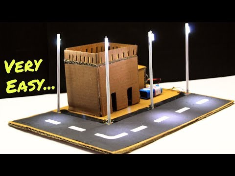Automatic LED Street Light Using Electronics LDR Sensor | Electricity DIY Project