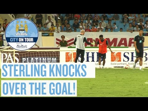 STERLING KNOCKS OVER THE GOAL! | City on Tour 2015