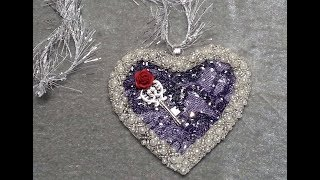 DIY~Make Gorgeous Shabby Chic Lace Heart Ornaments! | Kholo.pk