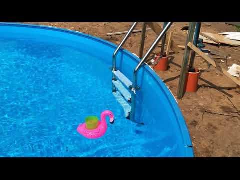 Montage der Poolleiter / Rundpool 4,50/1,20m