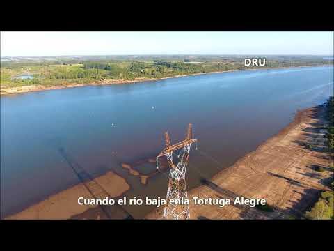 La bajante del río Uruguay en la Tortuga Alegre