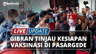 LIVE UPDATE: Gibran-Teguh Tinjau Persiapan Vaksinasi di Pasar Gede Solo