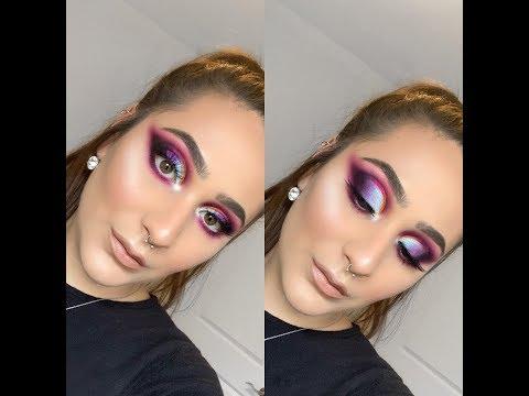 Colourful Double Cut Crease Tutorial | MakeupTiffanyJ Recreation