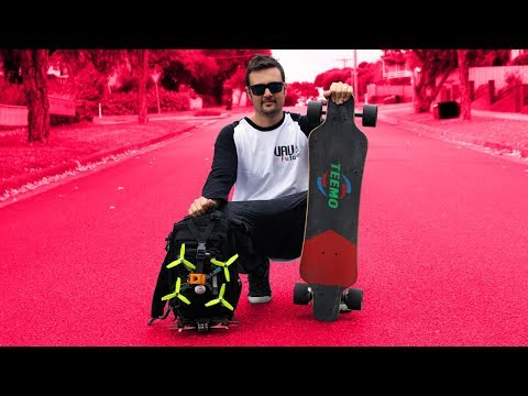 FPV + ELECTRIC SKATEBOARD = HEAVEN!! $270 Teemo board review