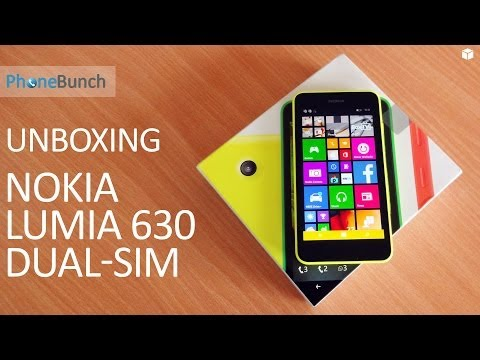 Nokia Lumia 630 Dual SIM Unboxing and Hands-on Overview