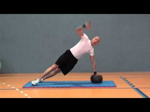 core and strength with medicine ball