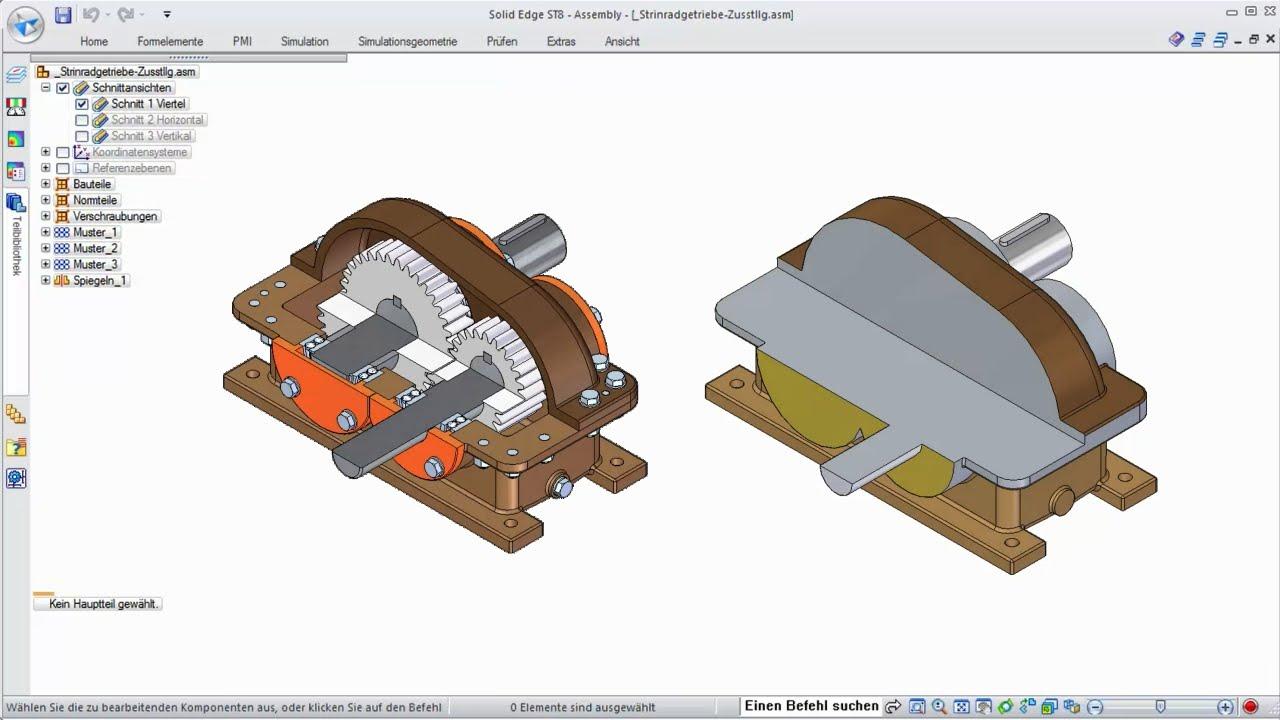 Vorschaubild: Solid Edge: Hüllkörper mit vereinfachten Bauteilen erzeugen