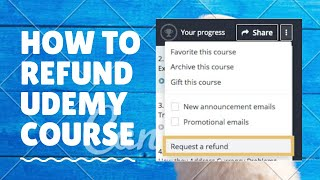 How to refund Udemy course