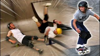 GYMNASTS TRY OLYMPIC SKATEBOARDING   Challenging Sky Brown