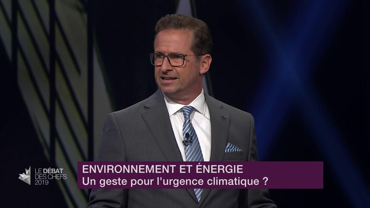 Yves-François Blanchet répond à la question d'un citoyen sur les mesures environnementales