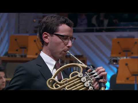 Excerpt from a concert performance of Richard Strauss' Horn Concerto no. 2 with the New World Symphony in Miami, Florida.
