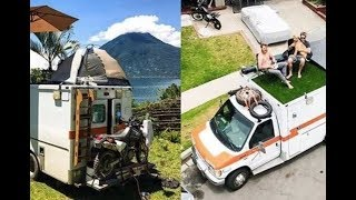 Man Buys Old Ambulance On eBay And Transforms It Into A Traveling Home