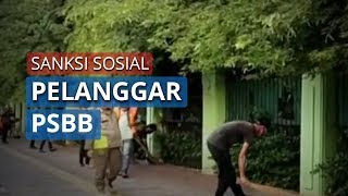 101 Pelanggar PSBB Dikenakan Sanksi Sosial, Bersihkan Fasilitas Umum
