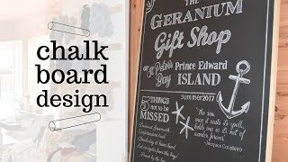 How I Create Professional Chalkboard Art