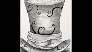 DRAWING THE MAD HATTER HAT - A SNEAK PEEK TO AN ONLINE CLASS