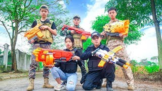 Nerf War: Special S.W.A.T Forces Nerf Guns Fighting Theft Extortion Group Nerf Movie