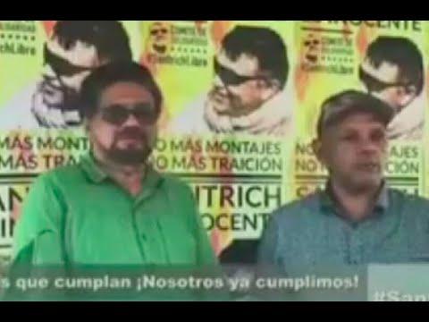 Ivan Marquez y 'el Paisa' exigen liberar a Santrich para salvar proceso de paz