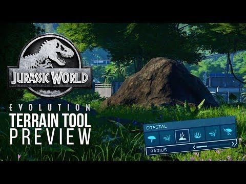 TERRAIN TOOL PREVIEW! ROCKS ROCKS ROCKS! | Jurassic World: Evolution Update
