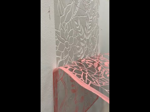 Creating raised plaster art using stencils