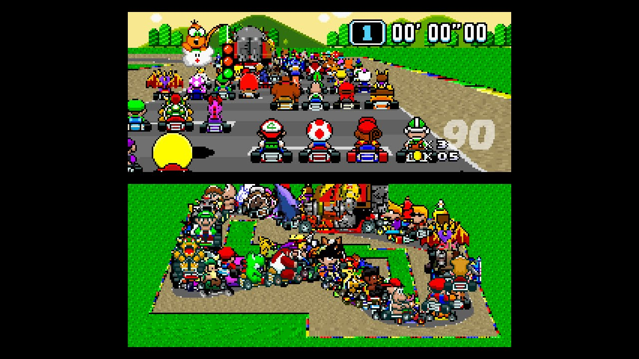 Super Mario Kart With 101 Video Game Characters Is Insane