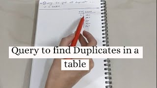 Query to find Duplicate Records in Table in SQL (NO DISTINCT)