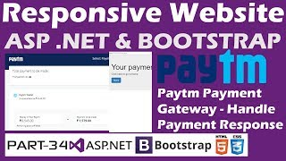 Responsive Website-ASP.NET&Bootstrap-Part 34-Online Shopping Site-Paytm Payment Gateway Response