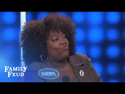 Hey! Fight this fire, don't GET NAKED!!! | Celebrity Family Feud | OUTTAKE