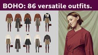 Modern Boho: 3 Wardrobes, 86 Versatile Outfits.