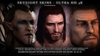 TES V - Skyrim Mods: SkySight Skins - Ultra HD 4K and 2K - Male Textures