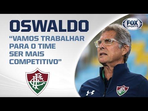 OSWALDO DE OLIVEIRA FALA APÓS DERROTA EM CASA DO FLUMINENSE PARA O AVAÍ POR 1 A 0