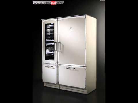 Retro Kühlschrank Designer Edelstahl Küche Officine Gullo