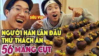 Người Hàn Quốc lần đầu thử thách ăn 56 Măng Cụt Việt Nam!!