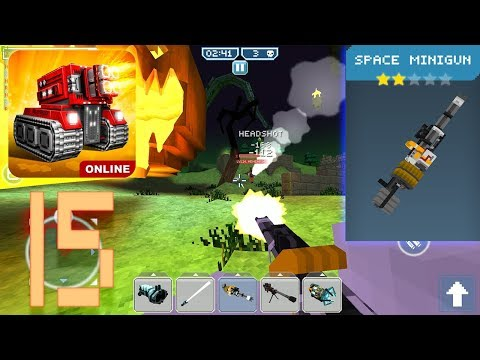 Blocky Cars Online - Space Minigun (Gameplay Part 15)