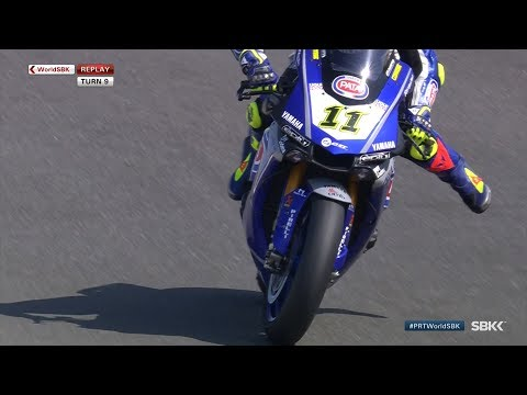 A big moment for Cortese at Turn 9 during FP1