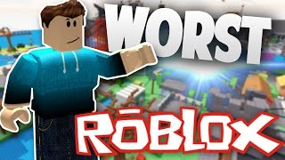 TOP 10 WORST ROBLOX Popular Games - 2017