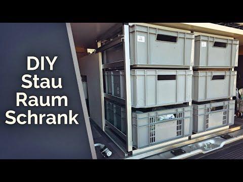 Schubladenschrank mit Euroboxen & Hundebox im Womo - DIY Wohnmobil Ausbau