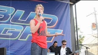 """Aaron Carter  Performs """"Blurred Lines"""" """"Treasure"""" & """"Get Lucky"""" At Market Days 2013 In Chicago"""