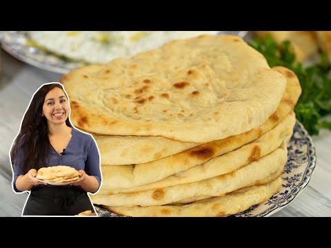The BEST Greek Pita Flatbread:No pocket and SO easy!