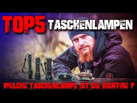 Top 5 Taschenlampen - Welche Taschenlampe kaufen richtige beste? Outdoor Survival Bushcraft EDC Test