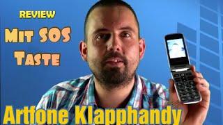 Artfone Senioren Klapphandy | SOS Taste + Dual Bildschirm 2,4/1,8 Zoll | Ohne Vertrag| Dual SIM
