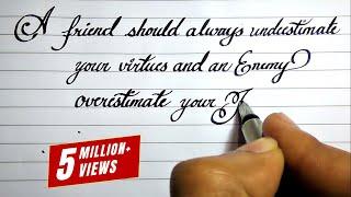 Beautiful English Handwriting Styles | English Neat And Clean Cursive Handwriting Styles # 14