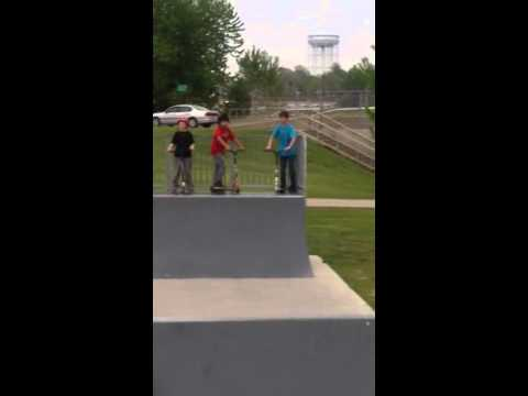At skate park in marshalltown