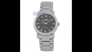 Видео обзор наручных часов LAROS 73473 браслет, корп-хром, циферблат-черный