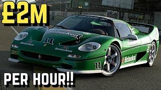 $2 MILLION/Hour *FERRARI F50* Setup in GT SPORT!!