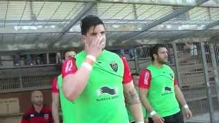 preview picture of video 'Rugby Espoirs RCT Toulon vs Racing Métro 92 Entrée des Equipes Stade Ange Siccardi Live TV 2015'