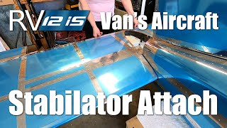 RV Aircraft Video - Van's Aircraft - RV-12iS - Stabilator Attach